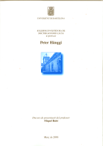 Honoris causa Peter Hänggi